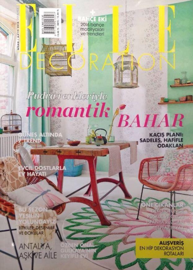 SPR AMBAR_Elle Decoration_Nisan 2016_kapak ELLE DECORATION BAHÇE SPR AMBAR Bahçe Mobilyaları