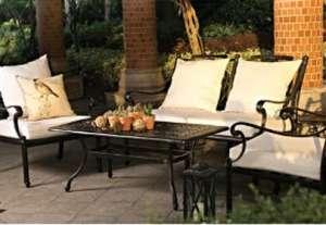 Bahçe mobilyası oturma grubu CAST ALUMINUM SPR AMBAR Pier 18 ikili kanepe tekli koltuk yan sehpa orta sehpa çiçek yastık minder günbatımı çiçek saksı