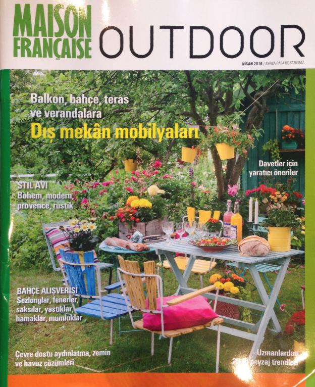 Maison Française Outdoor Nisan 2016 SPR AMBAR Bahçe mobilyaları
