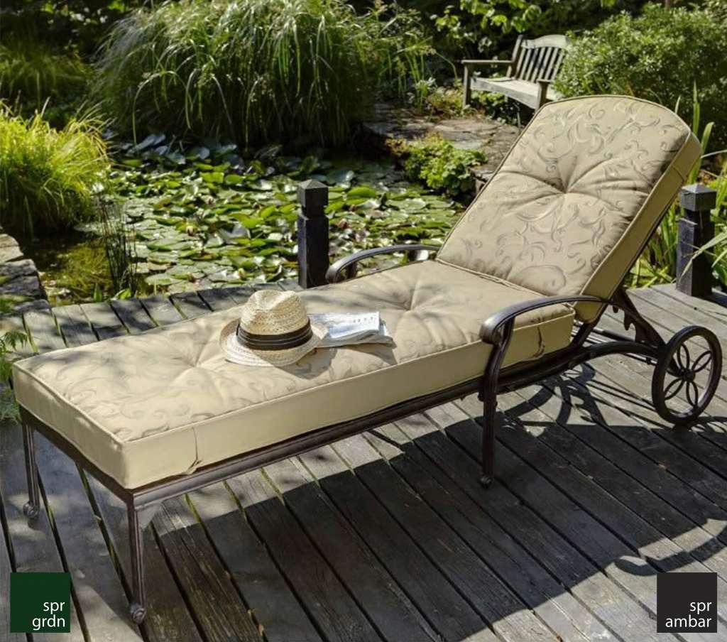 zamansız bahçe mobilyaları SPR AMBAR Şezlong Cast aluminyum SPRING