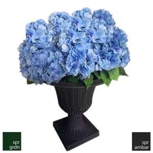 SPR AMBAR_Yapay Çiçek_Ortanca Mavi_Florance Saksı Bozuk Para Topları spw saksı ekolojik saksı klasik saksı