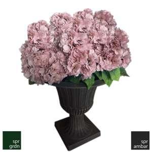 SPR AMBAR_Yapay Çiçek_Ortanca Pembe_Florance Saksı Bozuk Para Topları Florance Saksı Yapay çiçek pembe ortanca klasik saksı spw saksı