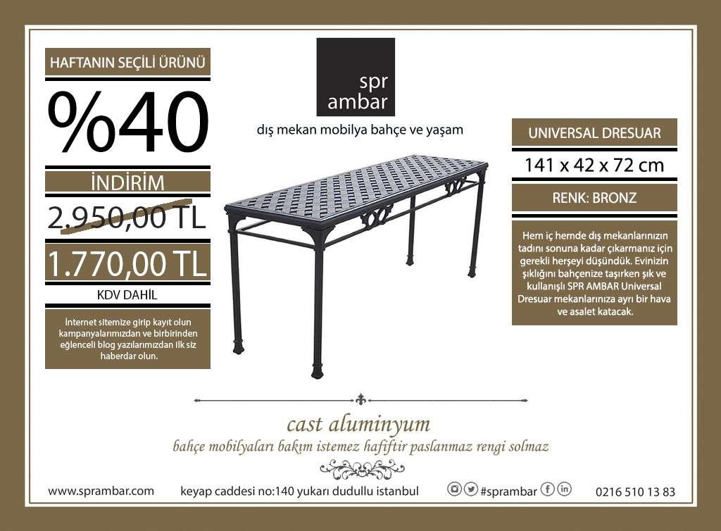 HAFTANIN ÜRÜNÜ spr ambar dresuar konsol masası cast aluminyum bahçe mobilyası