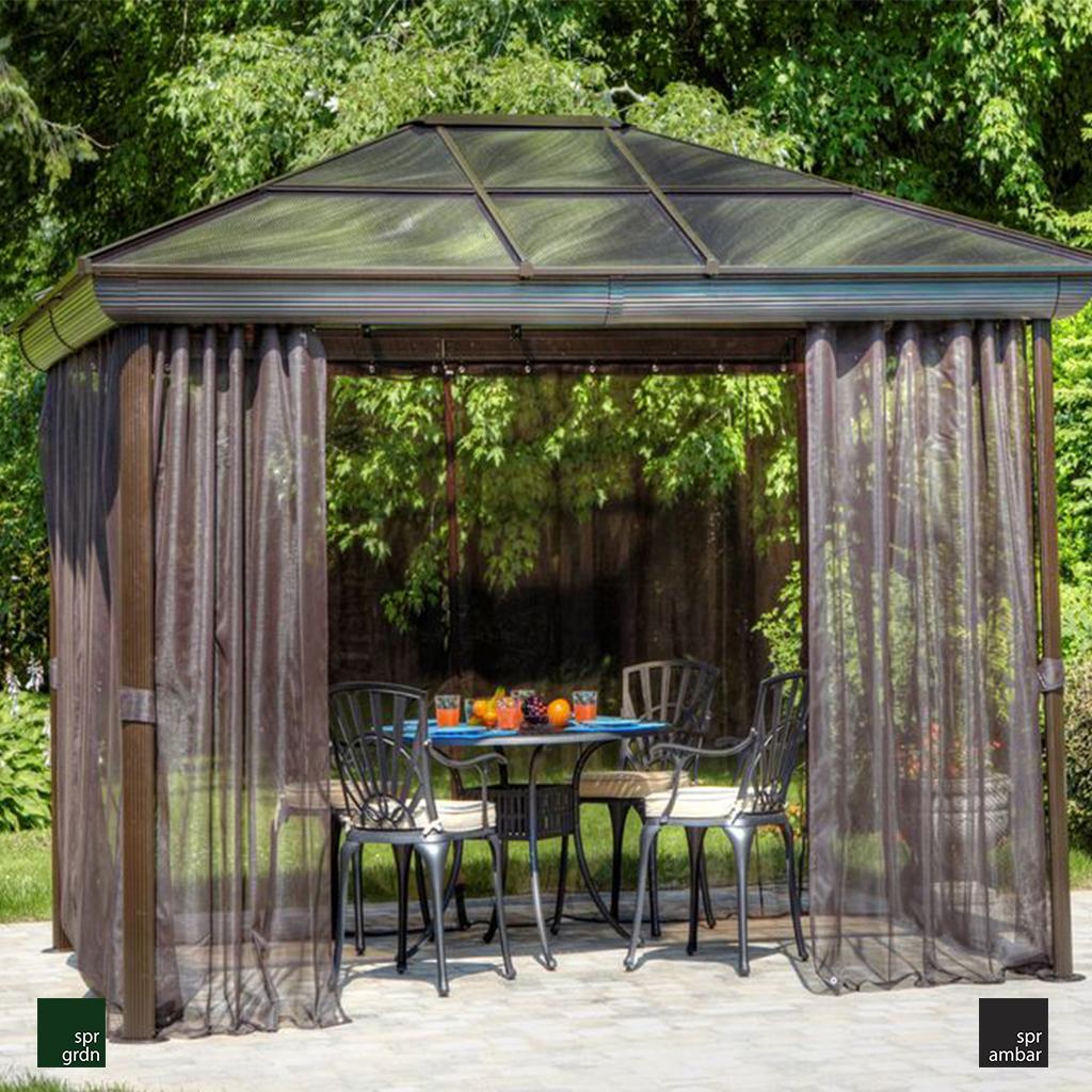 HAFTANIN ÜRÜNÜ spr ambar bahçe mobilyaları mobilyası gazebo perde CHARLESTON GAZEBO
