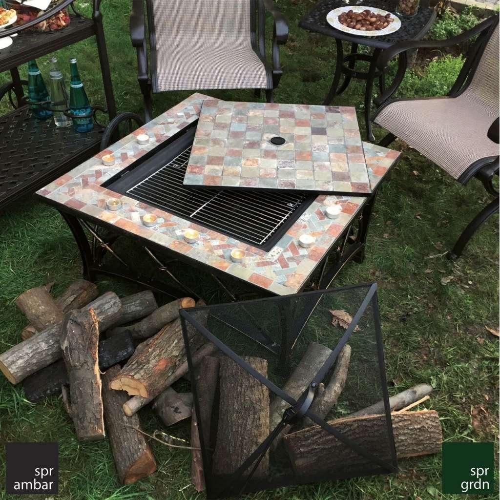 HAFTANIN ÜRÜNÜ SPR AMBAR bahçe mobilyaları bahçe mobilyası dış mekan sandalye cast aluminyum paslanmaz soba mangallı masa kurban bayramı indirim